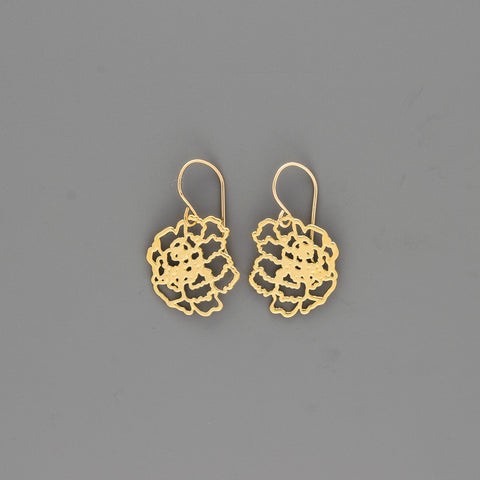 Contour Flower Earrings