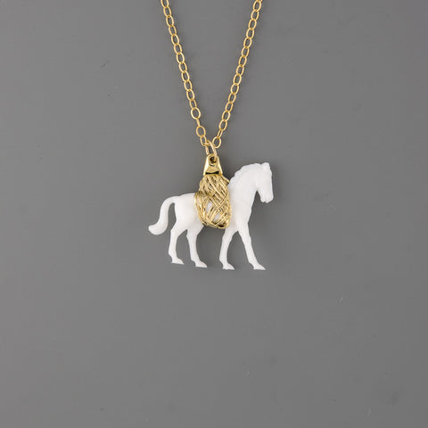 Toy horse Long Necklace