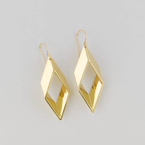 Diagonal cut of a quarter pipe Earrings