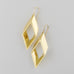 Diagonal cut of a quarter pipe Earrings A-206