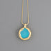 Laser machine lens Long Necklace