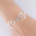 Double Butterfly Wing Bracelet on Chain