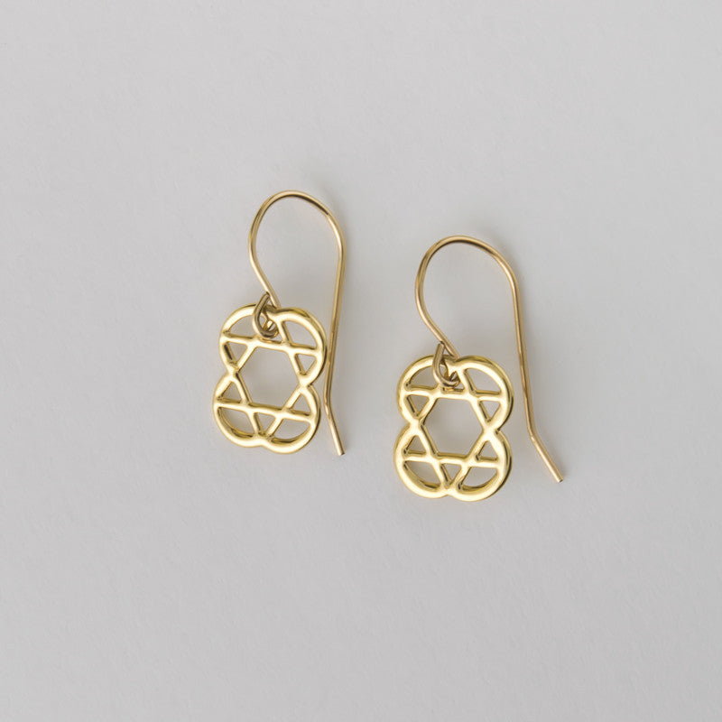 hearts Star of David Earrings