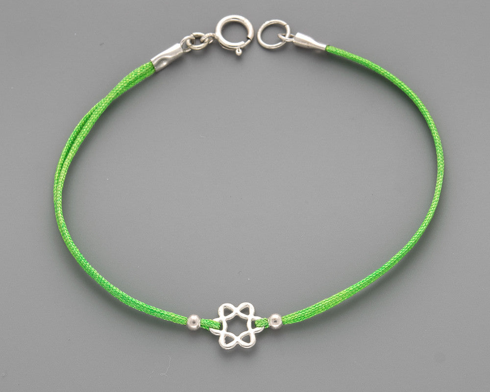 Classic Wavy Star of David Cord Bracelet