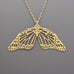 Double Butterfly Necklace B-289 size1