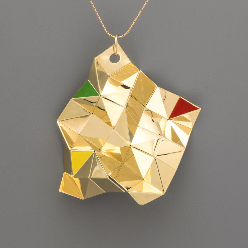 Origami Tessellation Long Necklace