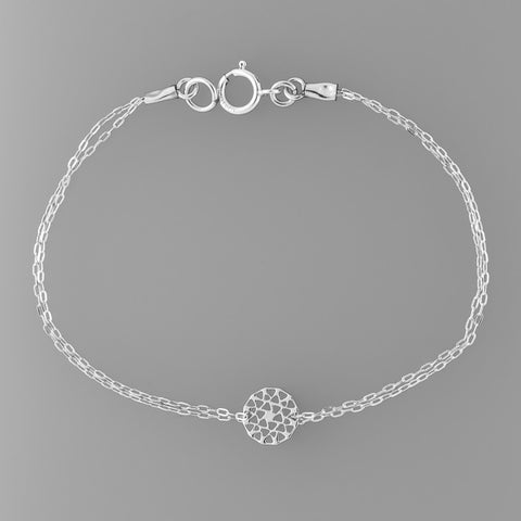 Silver Optical illusion Star of David Bracelet