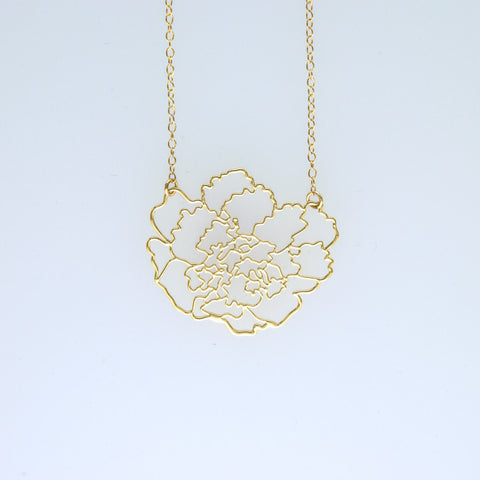 Contour Flower Short Necklace