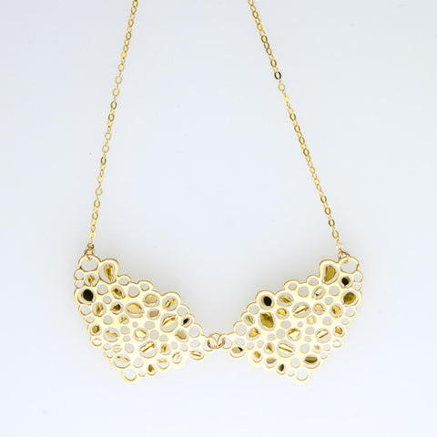 2 Mirrord Bubbles Short Necklace A-080