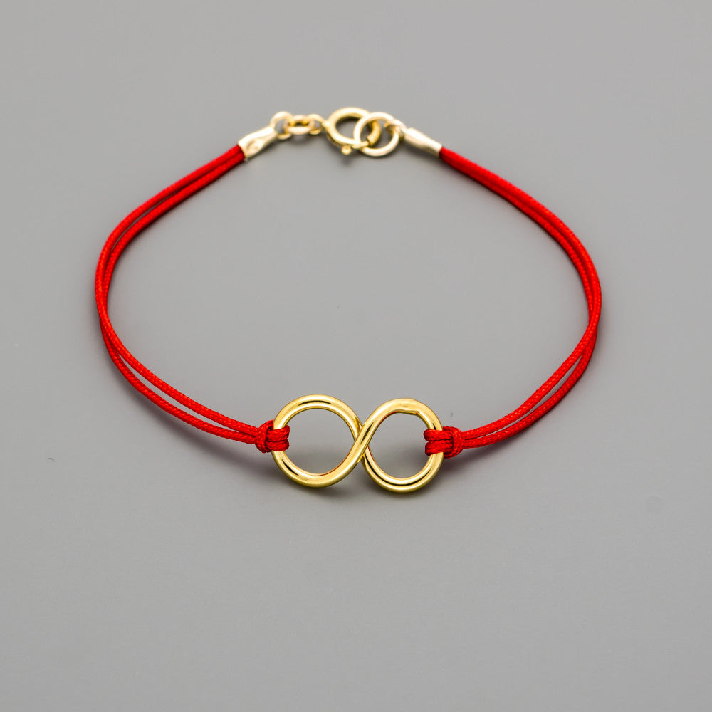 hand made infinity cord bracelet A-264