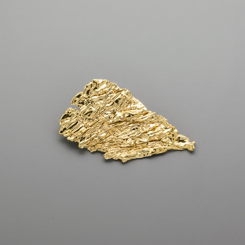 Crumpled paper Brooche