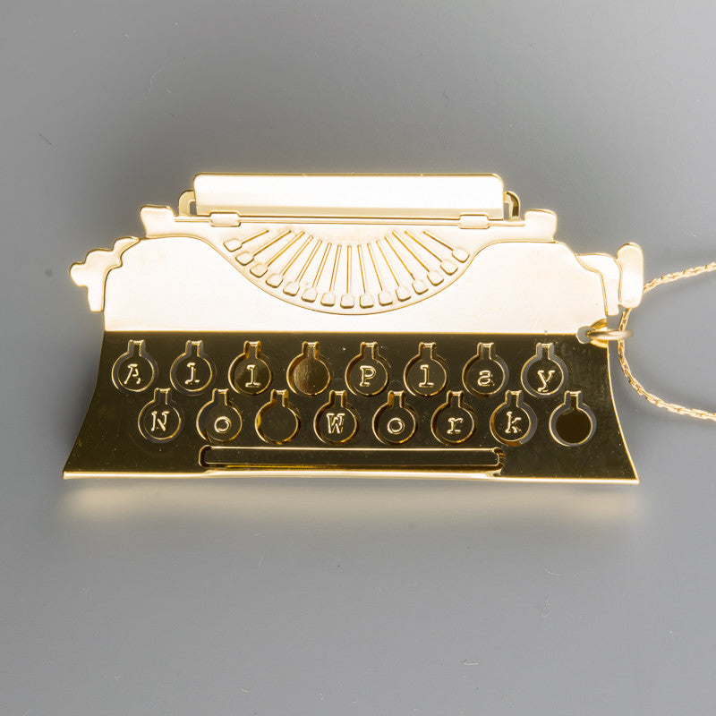 """All Play No Work"" Typewriter Long Necklace"