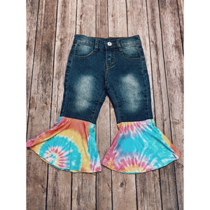 CLEARANCE SALE — Tie Dye Denim Bells