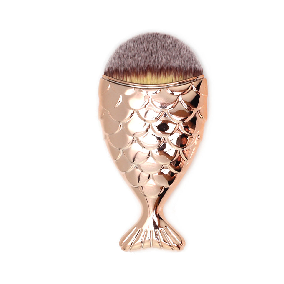 Fishtail makeup brush - Gold