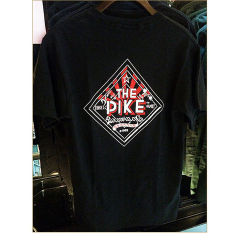 Men's Short Sleeve T-Shirt: The Pike — BACK / BLACK (Only Available in Black or Athletic Heather)