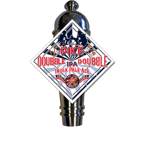 Pike Double IPA Art Deco Cast Aluminum Pike Beers Tap Handle