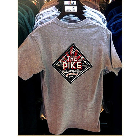 Men's Short Sleeve T-Shirt: The Pike — BACK / ATHLETIC HEATHER (Only Available in Black or Athletic Heather)