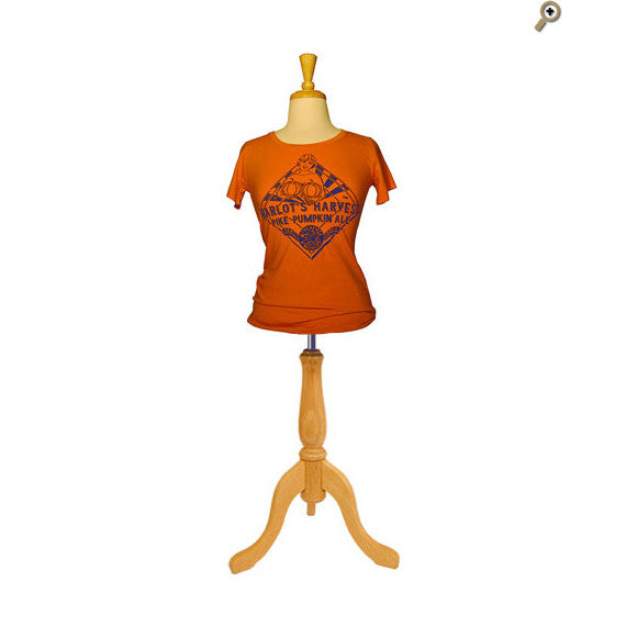 Women's Short Sleeve Seasonal T-Shirt: Harlot's Harvest: FRONT (In Carrot)