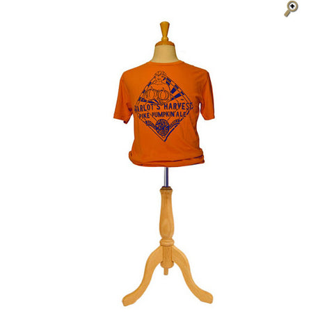 Men's Short Sleeve Seasonal Tee: Harlot's Harvest — FRONT (In Carrot)