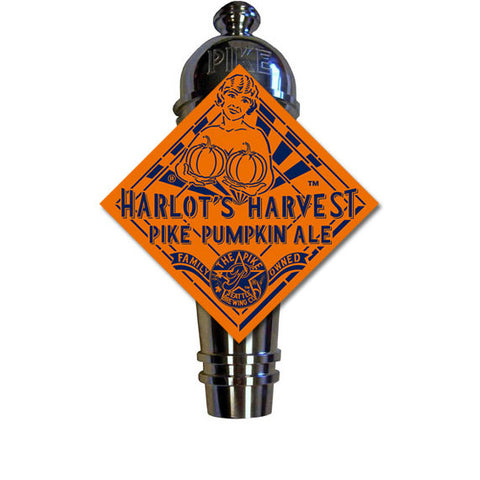 Pike Harlot's Harvest Pumpkin Ale Art Deco Cast Aluminum Pike Beers Tap Handle