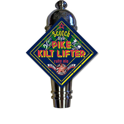Kilt Lifter Art Deco Cast Aluminum Pike Beers Tap Handle