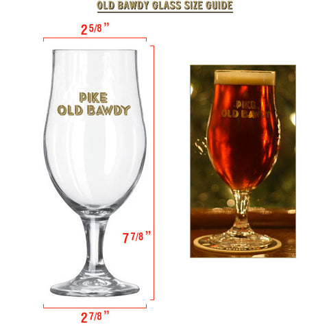 Glass: Old Bawdy Barley Wine — SIZE GUIDE