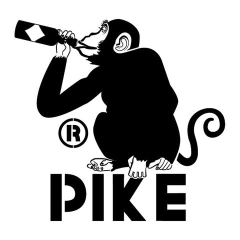 Logo: Pike Monk's Uncle Beer Drinking Monkey
