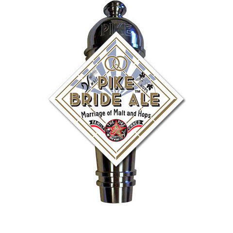 Pike Bride Ale Art Deco Cast Aluminum Pike Beers Tap Handle