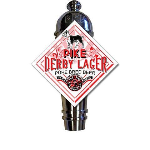 Pike Derby Lager Art Deco Cast Aluminum Pike Beers Tap Handle
