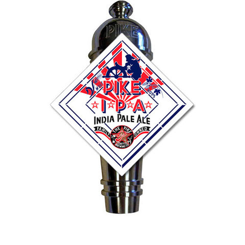 Pike IPA Art Deco Cast Aluminum Pike Beers Tap Handle