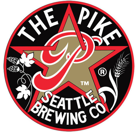 "LOGO: ""The Pike"" round logo with star"