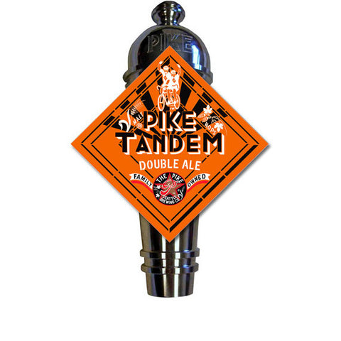 Pike Tandem Art Deco Cast Aluminum Pike Beers Tap Handle