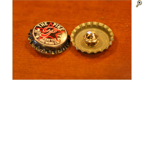 Bottle Cap Pin, Front & Back