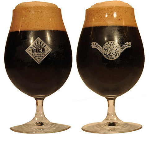 Spiegelau of Germany Pike Glasses — Stemmed Pilsner Glass, Front and Back