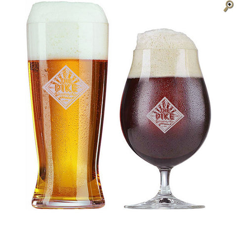 Spiegelau of Germany Pike Glasses — Helles Glass and Stemmed Pilsner Glass