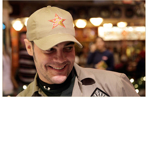 Cap: Star P — FRONT (shown in Jalepeño, worn by Jeremy)!