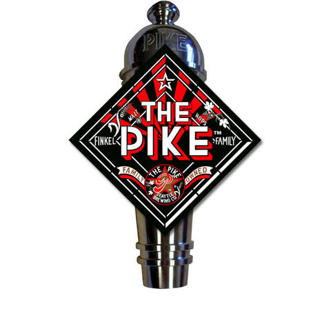 The Pike Diamond Art Deco Cast Aluminum Pike Beers Tap Handle