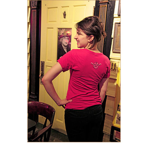Women's Short Sleeve T-Shirt: Star P — BACK (In Watermelon, worn by Renata)!