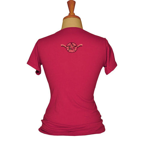 Women's Short Sleeve T-Shirt: Star P — BACK (In Watermelon)