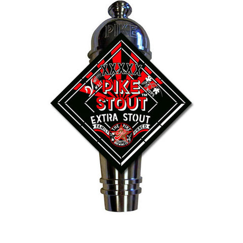 Pike XXXXX Stout Art Deco Cast Aluminum Pike Beers Tap Handle