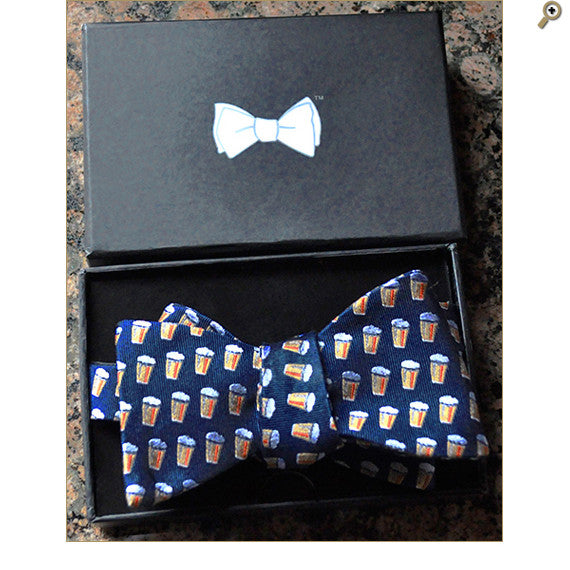 Pike Beer Bow Tie in Navy Blue.