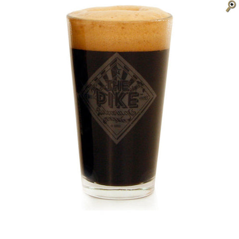 Pint Glass: Satin Etched (Nucleated)