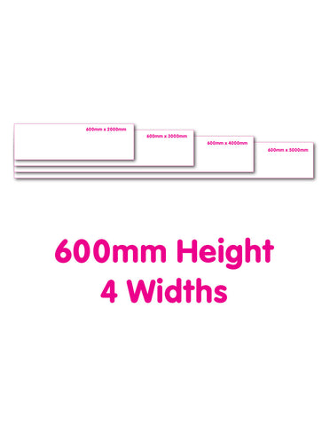 600mm height Eyeleted Vinyl Banner
