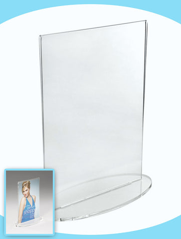 A4 Acrylic Oval Base Counter Top Stand