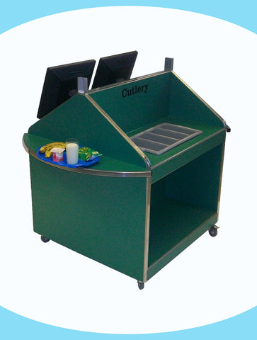 Academy Unit with Cutlery Section Sides, 2 Tray Slides and Facility for Fingerprint Recognition
