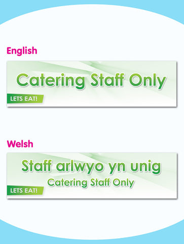Catering Staff Only Board - Style 7