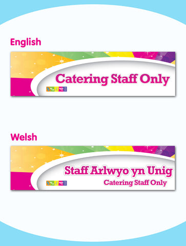 Catering Staff Only Board - Style 4