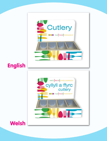 Cutlery Tray Front and Back Branding - Style 2