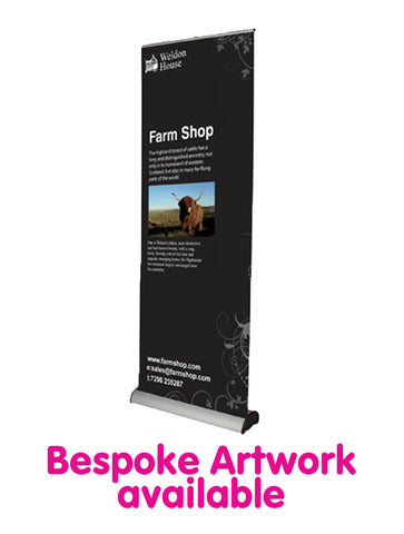 Deluxe Roll Up Banner - 800mm Wide