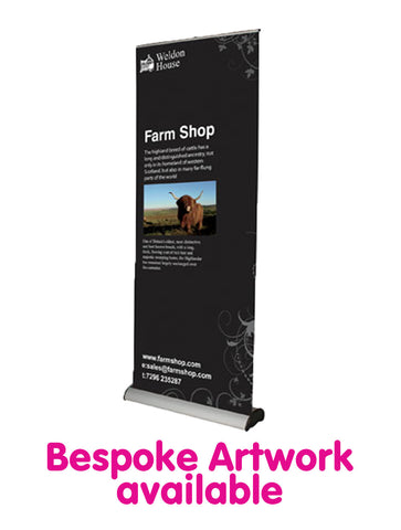 Deluxe Roll Up Banner - 850mm Wide